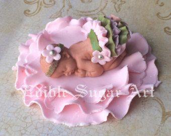WOODLAND-BABY-Dusche Deer Cake Topper Fondant Kuchen Topper Camo Baby Rosa camo