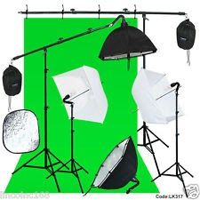 Photography Studio Lighting Backdrop Boom Stand Photo Light Kit
