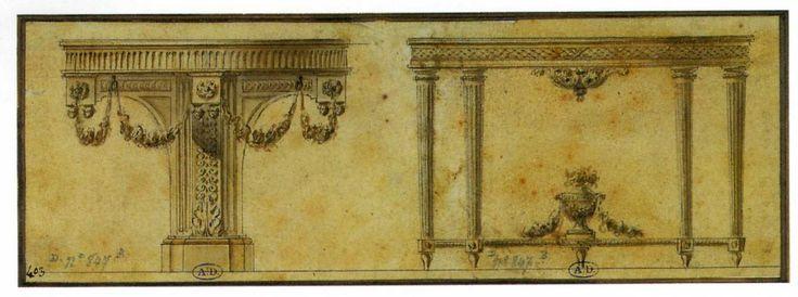 Grande Table Console En Demi-lune, XVIIIe Siècle, A French Taste, Proantic