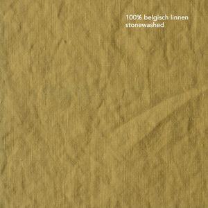 oostende straw gele stonewashed linnen gordijnen op maat