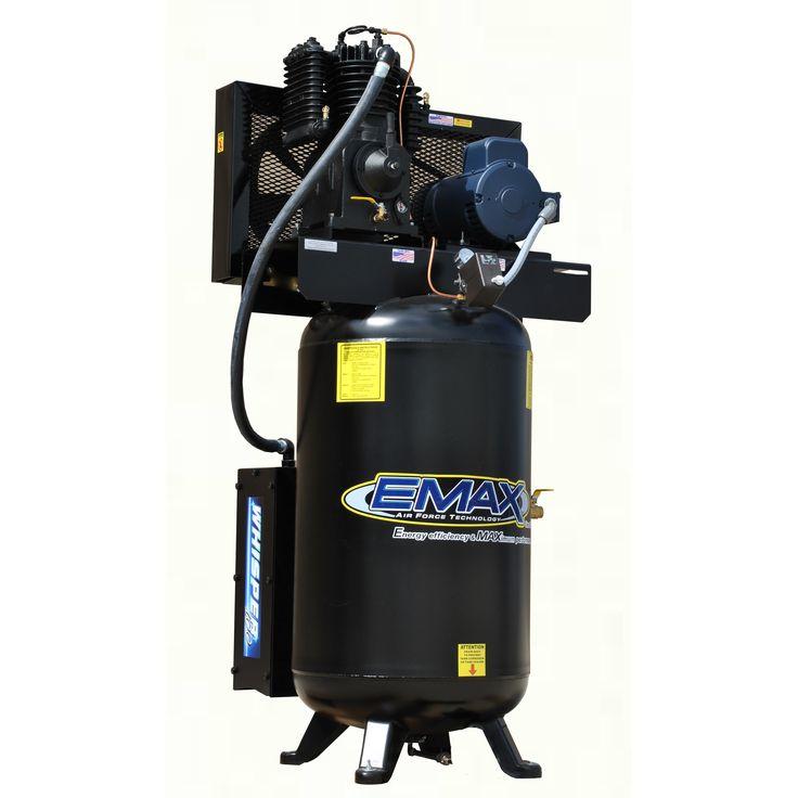 Emax Industrial Silent Air 10HP 1-phase 80 gallon Vertical Air Compressor