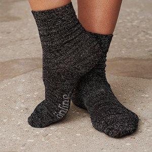 SOCKS bamboo socks with glitter, black with black glitter