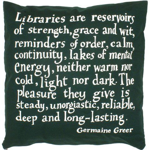 Germaine Greer Library Cushion Cover