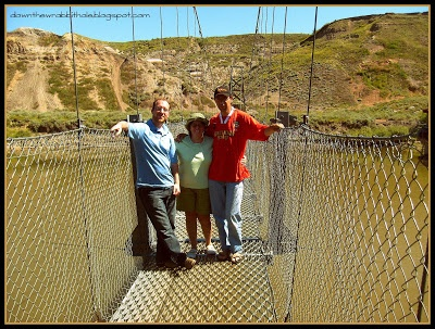 "The crazy suspension bridge at Drumheller, Alberta.  Find out more at ""Down the Wrabbit Hole - The Travel Bucket List"". Click the image for the blog post."