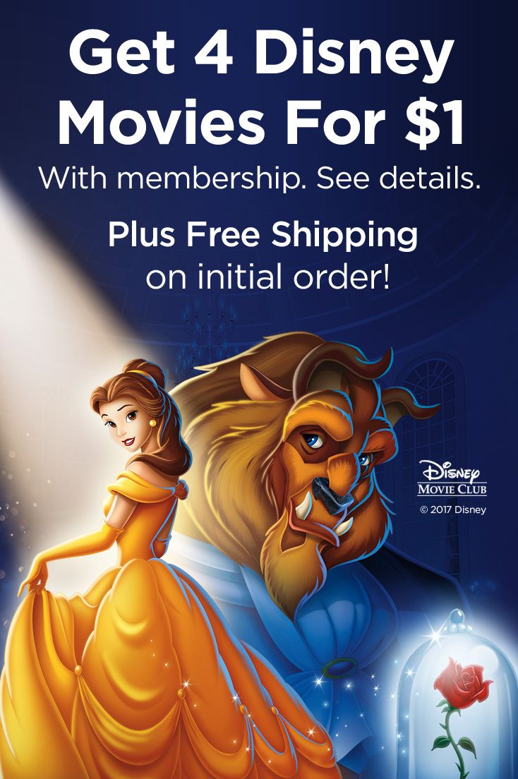 Disney Movie Club delivers enchanting animation and magical live action hits, right to your home. Get 4 movies for $1 with membership. Plus free shipping on initial order. See details.
