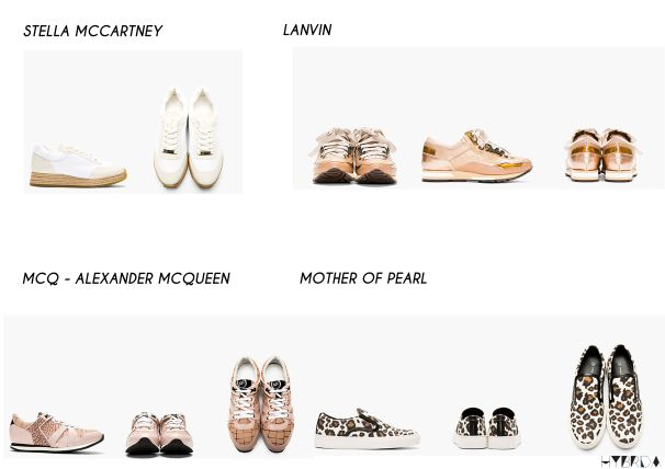 SNEAKERS COLLAGE -HYBRIDA Stella Mccartney MCQ  mother of pearl