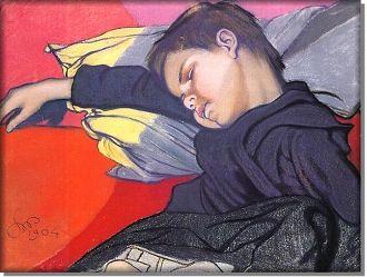 Śpiący Mietek - Stanisław Wyspiański