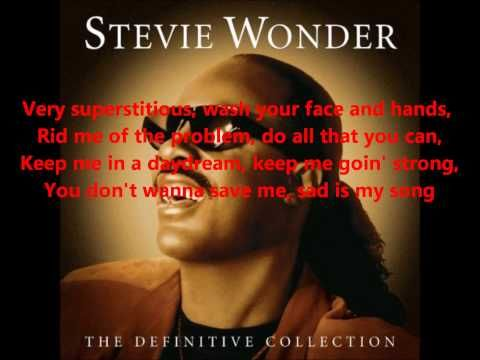Writing on the wall... Stevie Wonder... Superstition...