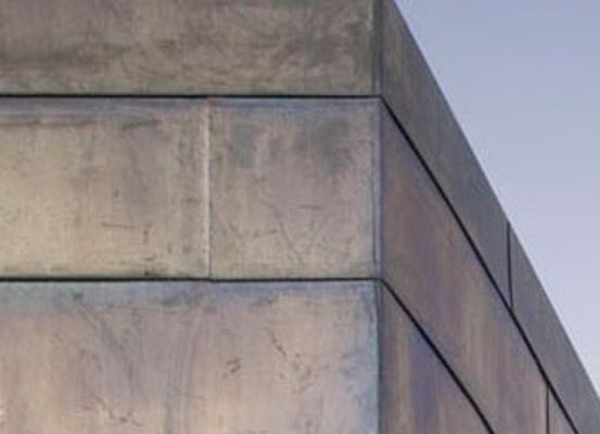 Zinc cladding- such beautiful colours in this