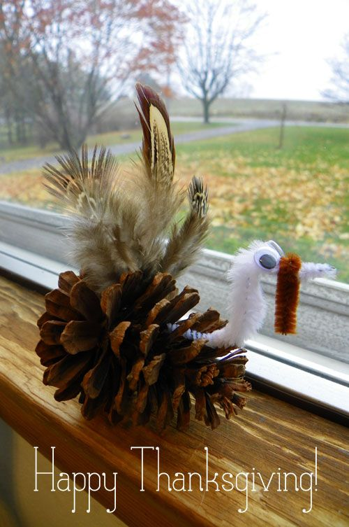 I have some saved feathers from Jeff's bird hunting so this would be a great craft to use some!