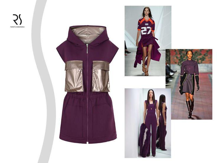 purple blouse - Ranita Sobańska  #rs #moodboard #fashion #ReadyToWear #PolishFashionDesigner #FashionDesigner #designer #sportfashion #ModaPolska #PolscyProjektanci