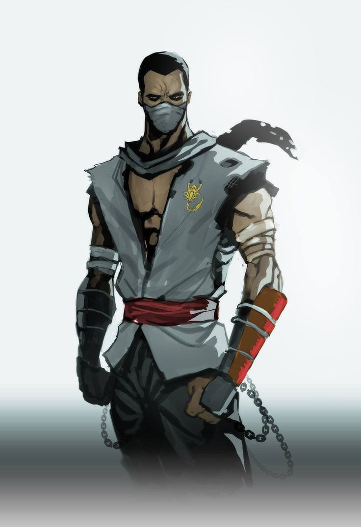 I think this is either younger Scorpion (Cause of the scorpion symbol on his chest) Or someone related to Scorpion (Also because of the scorpion on his chest)