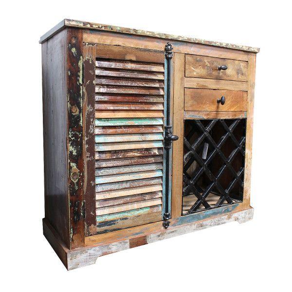 Shabby Möbel Massivholz Kommode | Shabby Style Weinschrank | Vintage Kommode  http://www.moebel-liebe.com/shop/shabby-chic-massivholz-kommode-aus-indien-weinregal-woodfoort/