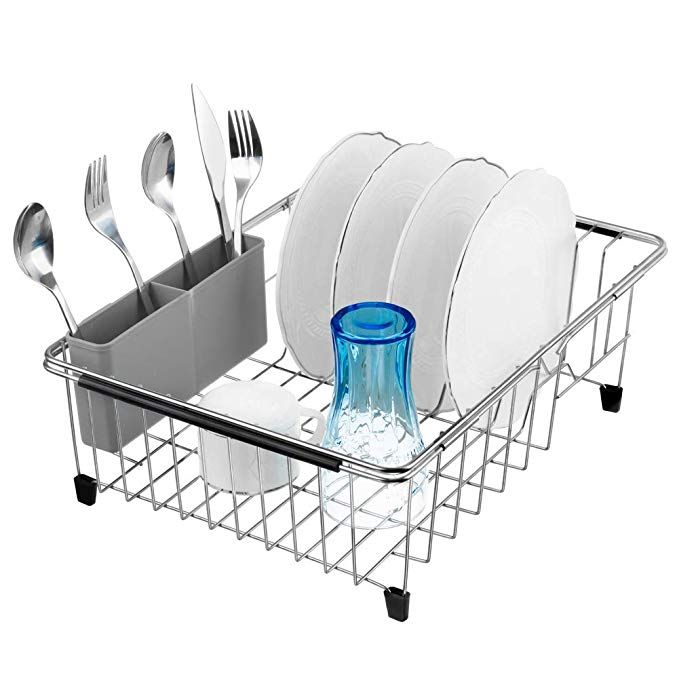 Blitzlabs Dish Drying Rack With Removable Utensil Holder And