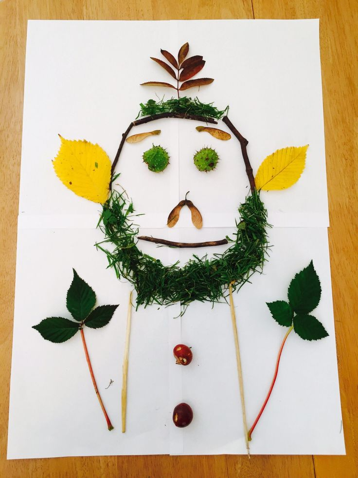 How fun is this 'nature daddy' from Finn, aged 4?? He chose everything from a woodland walk near his house http://wildlifewatch.org.uk/nature-art-competition