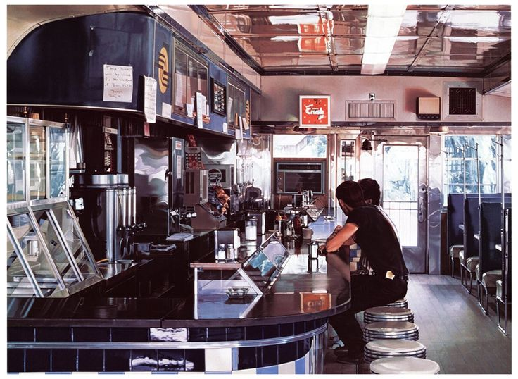 "Ralph Goings (American, b. 1928), ""Blue Diner,"" 1995, screenprint, signed"