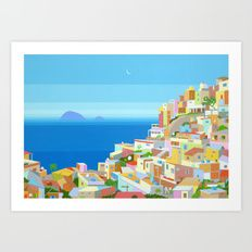 VIDIGAL FAVELA IN RIO Art Print