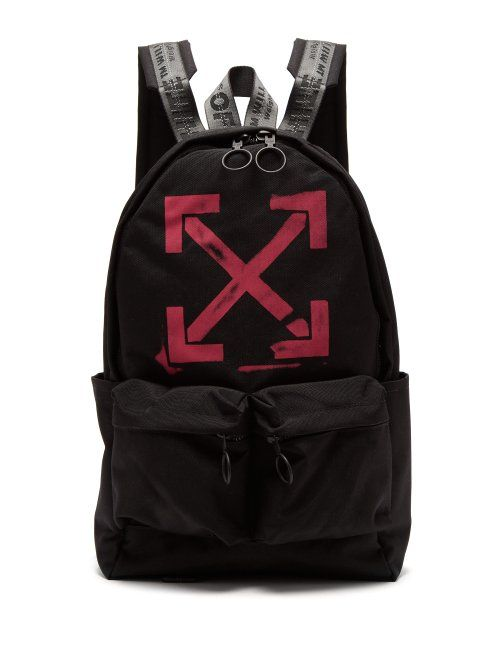 fdf5b59df7 OFF-WHITE OFF-WHITE - ARROWS PRINT BACKPACK - MENS - BLACK PINK. #off-white  #bags #backpacks