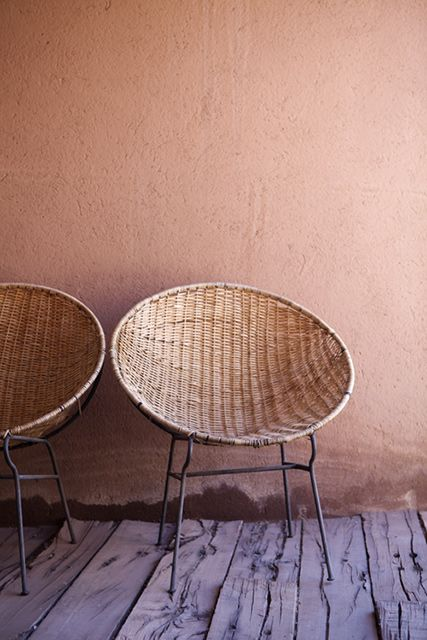 These wicker chairs are made for lounging #Tribal #InteriorDesign