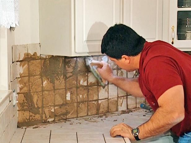 DIYNetwork.com remodeling expert Fuad Reveiz shows how to lay ceramic tiles over a laminate countertop and how to install a tile backsplash to match the new countertop.
