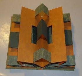 365: Make a Book a Day: Book 185 - A Piano Hinge Split Double Accordion Fold Book