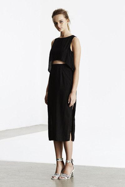 May the Label  - Shout Out Dress Black- May The Label