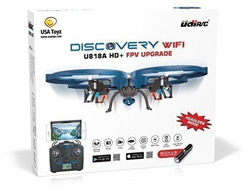 Special Offers - UDI U818A WiFi FPV RC Quadcopter Drone with HD Camera  2.4GHz 4 CH 6 Axis Gyro RTF Includes BONUS BATTERY  Power Bank (Quadruples Flying Time) - In stock & Free Shipping. You can save more money! Check It (August 19 2016 at 12:44PM) >> http://kidsscooterusa.net/udi-u818a-wifi-fpv-rc-quadcopter-drone-with-hd-camera-2-4ghz-4-ch-6-axis-gyro-rtf-includes-bonus-battery-power-bank-quadruples-flying-time/