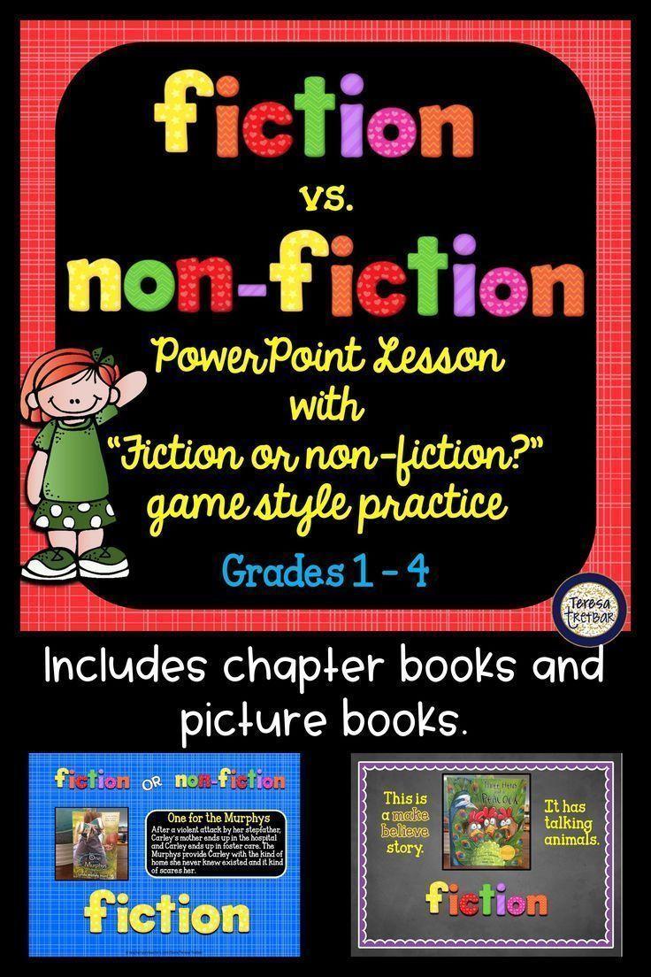 Fiction vs Non-Fiction PowerPoint Lesson and Practice | Best