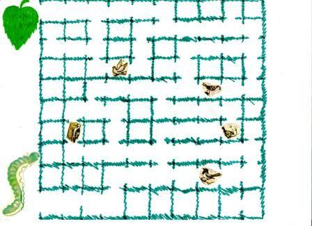 """Лабиринт """"Гусеница"""" для старшего дошкольного и младшего школьного возраста - Дидактические игры - Дошкольное образование - Обучение и развитие - ПочемуЧка - Сайт для детей и их родителей"""