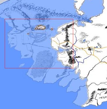 17 best middle earth images on pinterest maps map of middle this shows a more accurate version of the relationship between beleriand and the rest of middle earth sciox Gallery