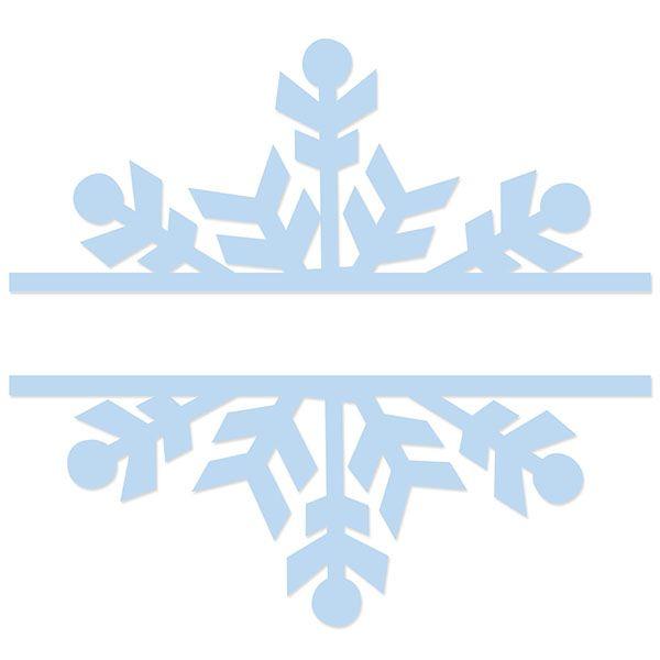 Split Snowflake Title