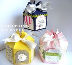 Cute gift box from a Milk Carton box. These are so cute for giving a little gift. Creations on Paper: Altered Milk Carton Boxes