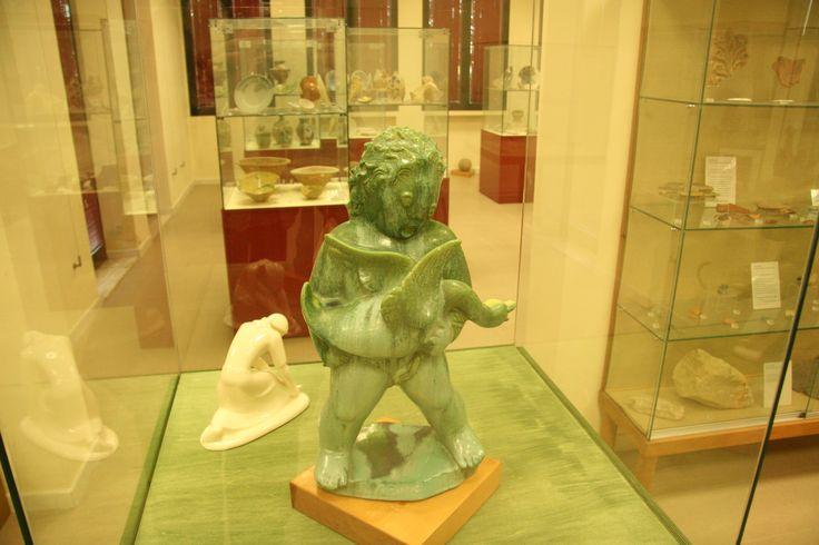 """Putto con oca, di Angelo #Biancini, mostra """"Biancini a Laveno"""", Museo civico di Castel Bolognese, 8 dicembre 2011 - gennaio 2012"""