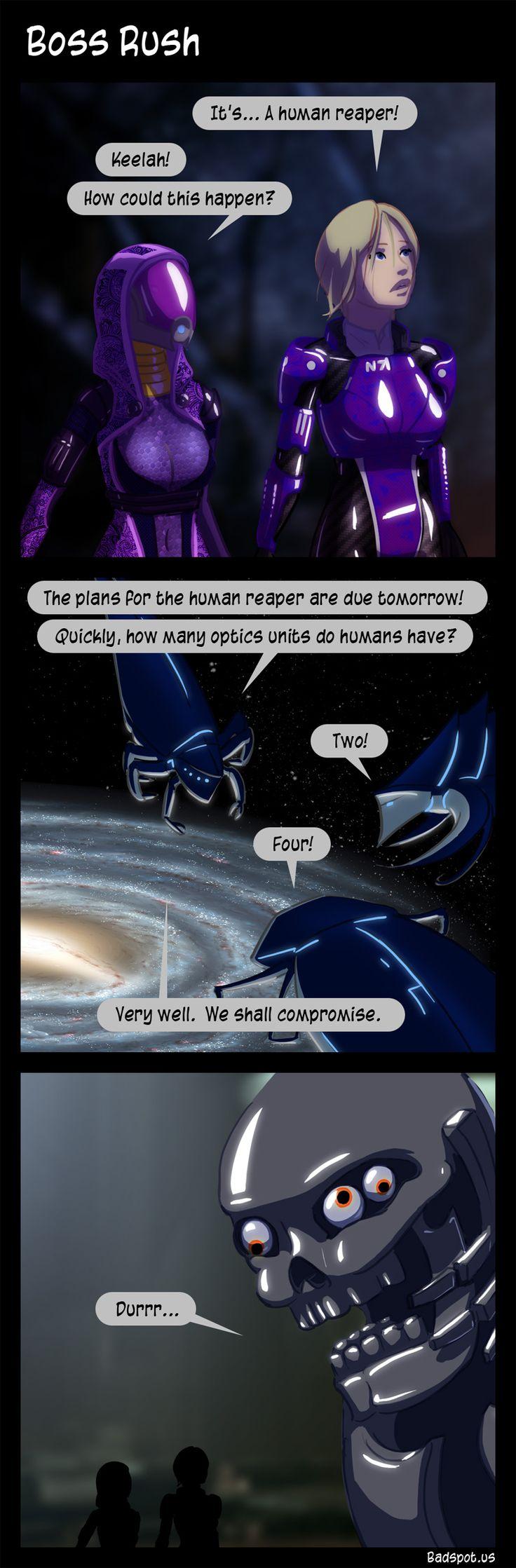 Mass Effect Comic - Boss Rush. The Human Reaper had to ship ...