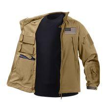 Concealed Carry Soft Shell Jacket (Khaki) - Flag