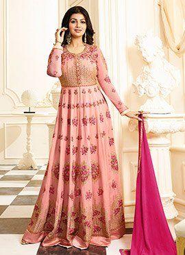 Ayesha Takia Light Pink Abaya Style Anarkali Suit