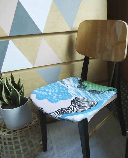 czas oscrapowany: Krzesło vintage- przed i po.