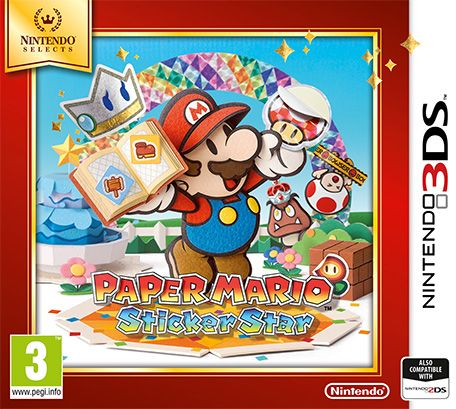 Image result for Nintendo 3DS Paper Mario Sticker Star selects