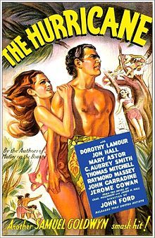 The Hurricane (1937).  John Hall and Dorothy Lamour.  Even though it's 1937, this is one of the best  FX storms you will ever see.