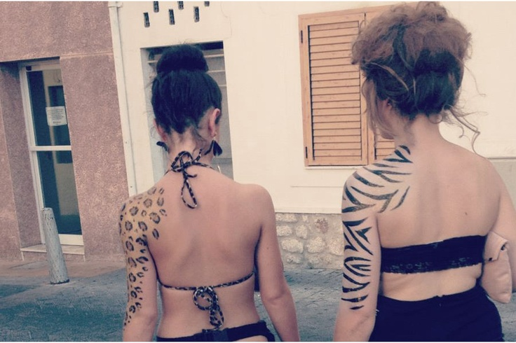 Preparing for the Zoo Project  Animal Print Body Paint