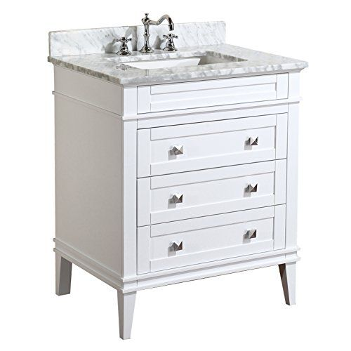 Photo Image Buy Eleanor Bathroom Vanity Carrara White Includes a White Cabinet by Home Improvement A