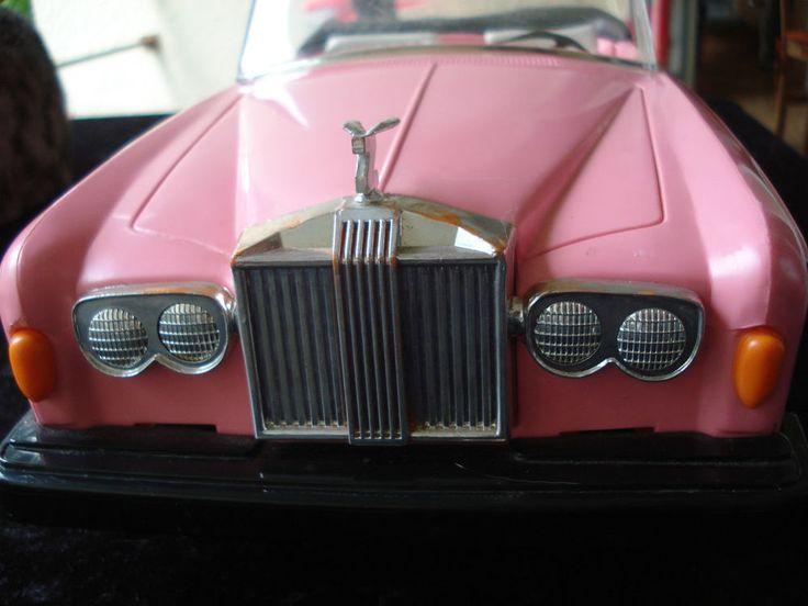 1980-er Barbie Rolls Royce Classic Convertible, Cabrio pink,  ZIMA 52x20x15 cm