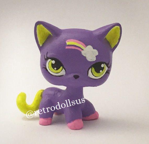 Littlest Pet Shop Toy  Custom OOAK LPS Shorthair Cat