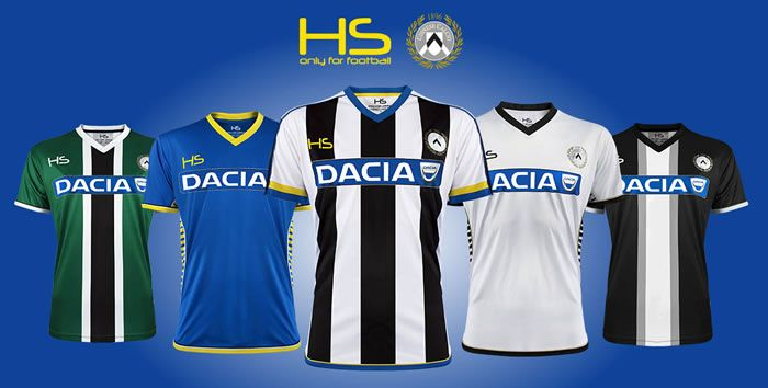 Nice Day Sports: Udinese 2015-16 HS Football Home, Away & Third Kit...