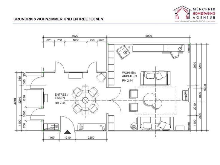 Grundrisse helfen Proportionen von Möbeln im Raum darzustellen.