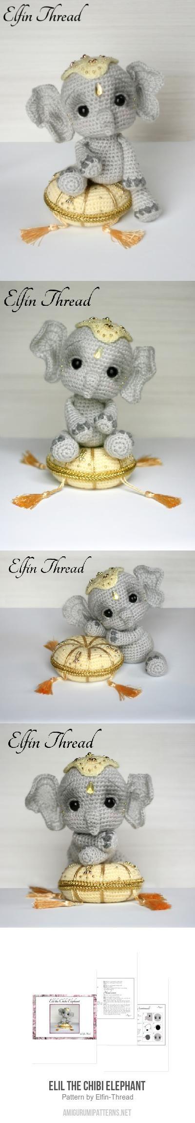 Elil the Chibi Elephant amigurumi pattern
