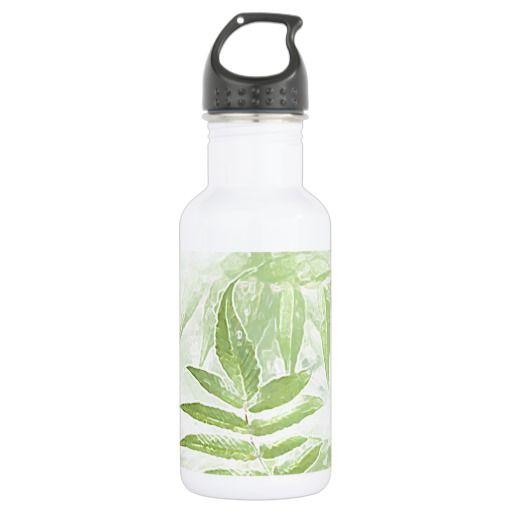 Spirea Leaves - Digital Art 18oz Water Bottle