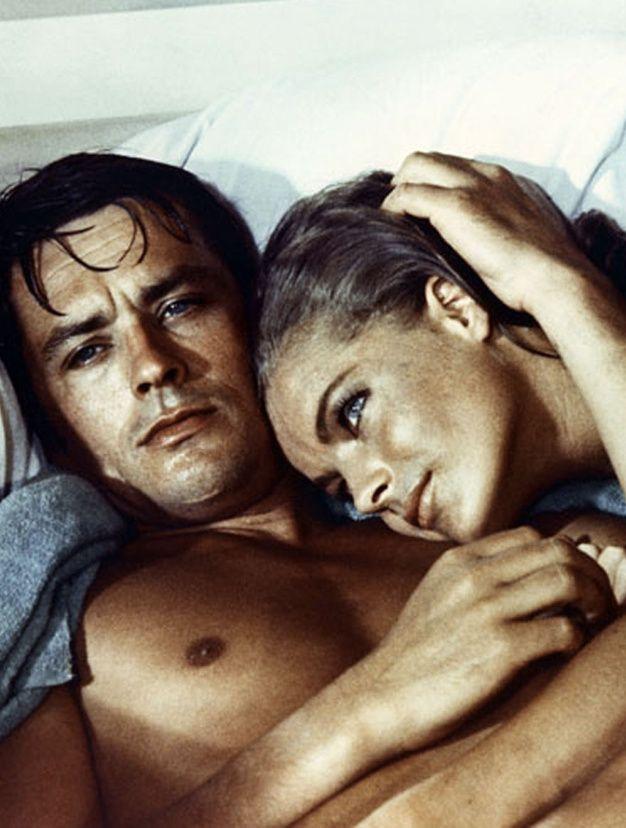 Ces couples mythiques du cinema Alain delon et Romy schneider