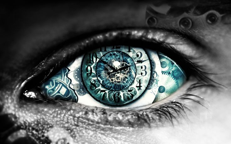 Time machine by sparco2.deviantart.com  I had a dream where everyone had eyes like this once.