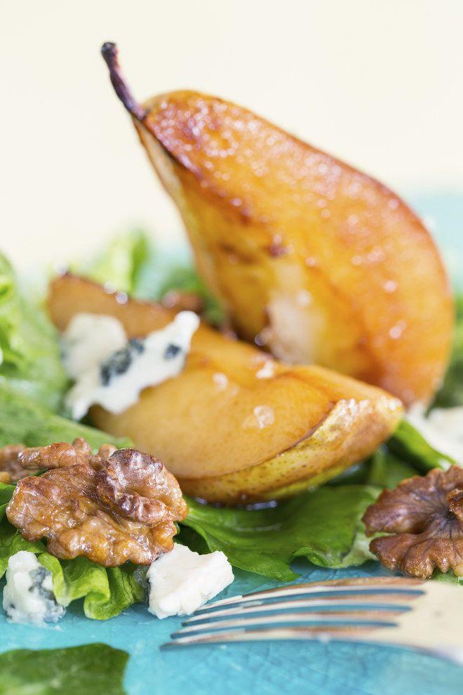 Poires gratinées au roquefort - Pour cette recette utilisez une variété de poires croquantes, pas trop juteuses.